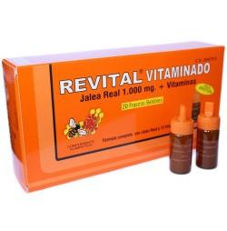 REVITAL VITAMINADO FORTE JALEA REAL 20 AMPOLLAS