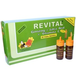 REVITAL GINSENG JALEA REAL 20 AMPOLLAS