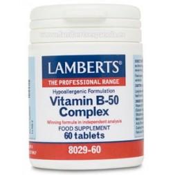 Vitamina B 50 Complex 60 tabletas Lamberts