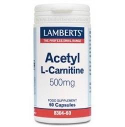 L-ACETIL CARNITINA 500 mg 60 CAPSULAS LAMBERTS