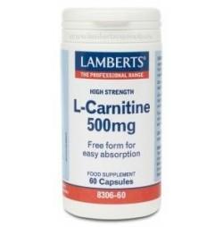 L-CARNITINA 500 mg 60 CAPSULAS LAMBERTS