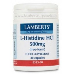 L-HISTIDINA HCI 500 mg 30 CAPSULAS LAMBERTS