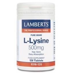 L-LISINA 500 mg 120 TABLETAS LAMBERTS