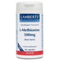 L-METIONINA 500 mg 60 CAPSULAS LAMBERTS