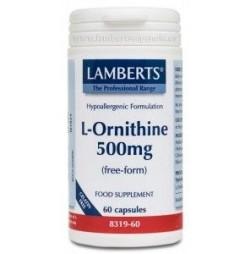 L-ORNITINA 500 mg 60 CAPSULAS LAMBERTS