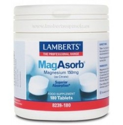 Magasorb Magnesio 150 mg 180 tabletas Lamberts