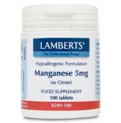 MANGANESO 5 mg 100 TABLETAS LAMBERTS