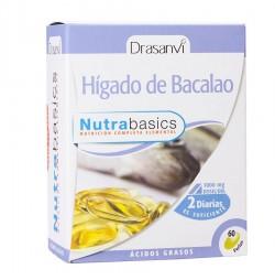 NUTRABASICS HIGADO DE BACALAO 60 PERLAS DRASANVI