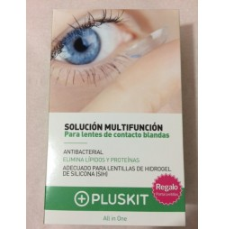 SOLUCION MULTIFUNCION LENTES DE CONTACTO PLUSKIT 2 X 360 ml