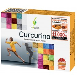 Curcurina Cúrcuma + Pimienta Negra + Jengibre 30 cápsulas Novadiet